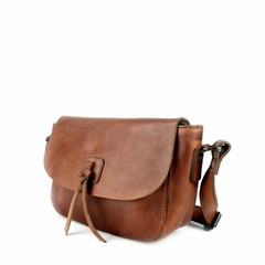 SHOULDER BAG LEONIE leather reddish brown