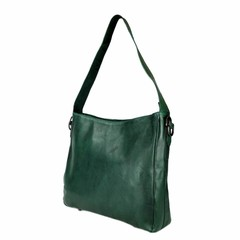 SHOPPER MELODY leather green