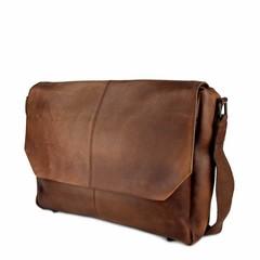 MESSENGER/LAPTOP BAG LOKI leather reddish brown