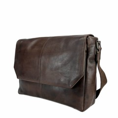 MESSENGER/LAPTOP BAG LOKI leather dark brown