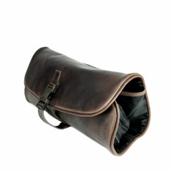 TOILET BAG  CLIFFHANGER leather dark brown