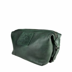 manbefair KARL TOILET BAG leather  green