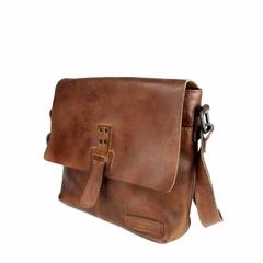 SHOULDER BAG DONNA leather reddish brown