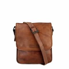 SHOULDER BAG MAYA leather reddish brown