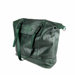 SHOPPER MAY leather green