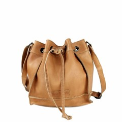 manbefair SMALL SHOULDER BAG ELLA leather cognac
