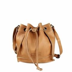 SMALL SHOULDER BAG ELLA leather cognac