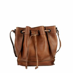manbefair SMALL SHOULDER BAG ELLA leather reddish-brown