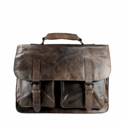 Al C.  BRIEFCASE / LAPTOPBAG smokey brown leather