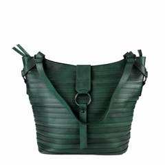 SHOPPER BERLIN leather green