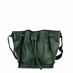 SMALL SHOULDER BAG ELLA leather green