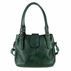 HANDTASCHE MARLA Vintage Leder grün