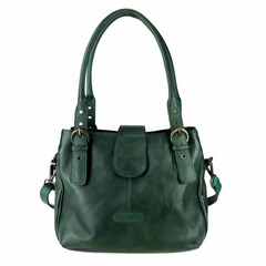 MARLA HANDBAG vintage leather green