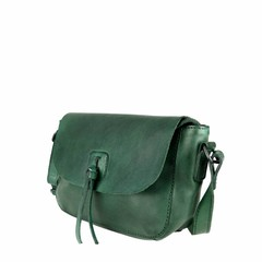 SHOULDER BAG LEONIE leather green