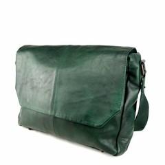 MESSENGER/LAPTOP BAG LOKI leather green