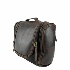 manbefair TRAVELBIRD TOILET BAG leather dark brown