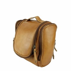 manbefair TRAVELBIRD TOILET BAG leather cognac