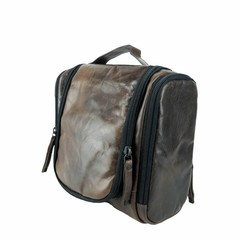 TRAVELBIRD TOILET BAG leather smokey brown