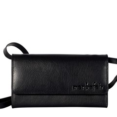 manbefair CLUTCH LILY leather black