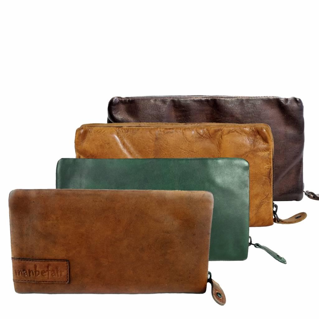 Geldbörse Marta, rot braun, Vintage Leder, fair produziert
