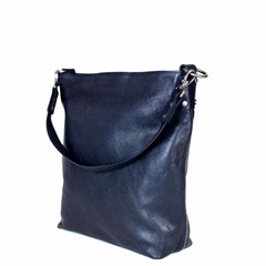 manbefair SHOPPER THERESA Leder blau