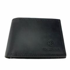 manbefair SMALL WALLET LEIFF leather graphite black