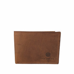 SMALL WALLET LEIFF leather nut brown