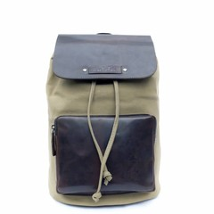 BACKPACK LUCCA canvas olive - B-WARE