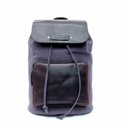 BACKPACK LUCCA canvas blue  - B-WARE