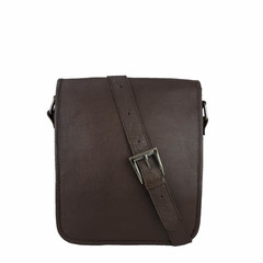 manbefair SHOULDER BAG AMBER leather brown