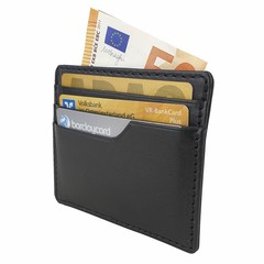 manbefair SMALL CARD CASE TALLIN leather black