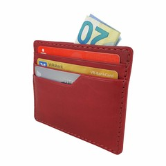 manbefair SMALL CARD CASE TALLIN leather red