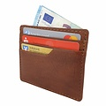 manbefair SMALL CARD CASE TALLIN leather reddish brown