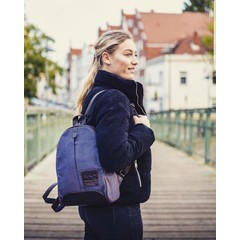 manbefair BACKPACK GIRONA  canvas blue