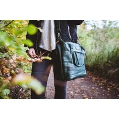 manbefair SHOPPER MAY Leder grün