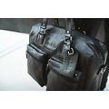 manbefair TRAVEL BAG VENEZIA leather black