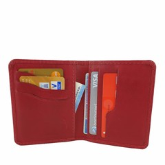 manbefair CARD CASE RIGA leather red