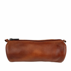 manbefair PENCIL CASE CARDIFF leather reddish brown