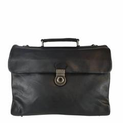 manbefair BUSINESS BAG ODIN leather black