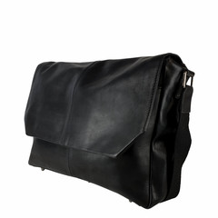 manbefair MESSENGER/LAPTOP BAG LOKI leather black