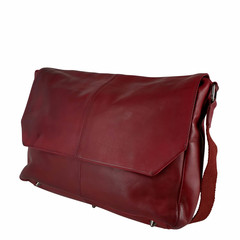 manbefair MESSENGER/LAPTOP BAG LOKI leather red
