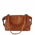 manbefair SHOULDER BAG-BOWLING BAG MERYL leather reddish brown