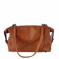 manbefair BOWLING BAG MERYL leather reddish brown