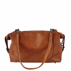 manbefair SHOULDER BAG-BOWLING BAG MERYL leather reddish brown