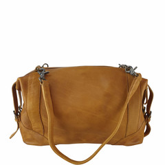 manbefair SHOULDER BAG-BOWLING BAG MERYL leather cognac