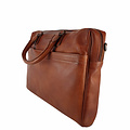 manbefair LAPTOP BAG JOAN leather reddish brown