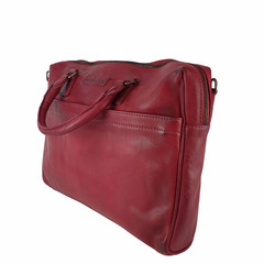 manbefair LAPTOP BAG JOAN leather red