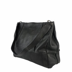 manbefair SHOPPER FIRENZE leather black