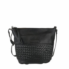 manbefair SHOULDER BAG NICE leather black