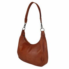 manbefair HOBO BAG CATHRINE leather reddish brown